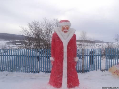 Дед Мороз - Снежные фигуры - События - Фотоальбомы - Деревня Мулдакаево Учалинского района РБ